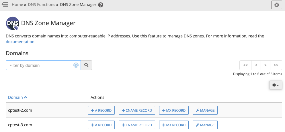 DNS Zone Manager